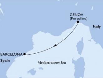 1 Noche por Italia, España a bordo del MSC Preziosa